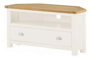 Northport White Corner TV Cabinet