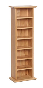 New Oak CD DVD rack
