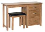 New Oak dressing table stool