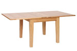 New Oak 3  x 3  flip top extending table