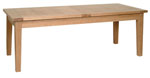 New Oak 6 8  x 3  extending table - 2 leaves