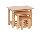 New Oak small nest of tables