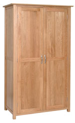 New Oak ladies full hanging wardrobe