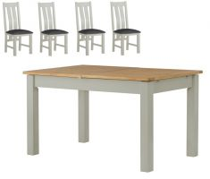 Northport Stone Extending Table with 4 Chairs