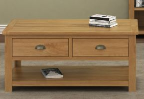 Thumbnail Northport Oak Coffee Table with Drawers