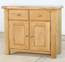 Genoa Oak 2 Door 2 Drawer Sideboard