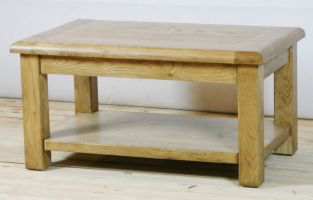 Genoa Oak Coffee Table with Shelf