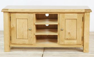 Thumbnail Genoa Oak Large TV Unit with 2 Doors