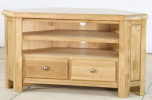 Genoa Oak Large Corner TV Unit