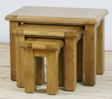 Genoa Oak Nest of 3 Tables