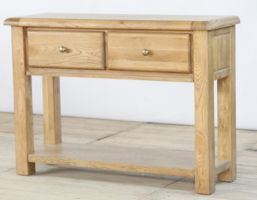 Genoa Oak 2 Drawer Console Table