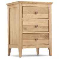 Waverley Oak 3 Drawer Bedside