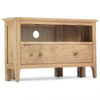 Waverley Oak Corner TV Cabinet with Drawer