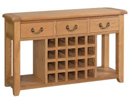 Suffolk Oak Sideboard with Wine Rack