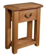 Suffolk Oak 1 drawer console table