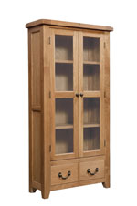 Suffolk Oak glazed display cabinet