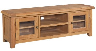 Suiffolk Oak Wide Screen TV Unit