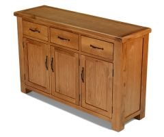 Windsor Oak Large 3 Door 3 Drawer Sideboard