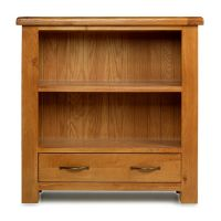 Thumbnail Windsor Oak Low Bookcase with Drawer