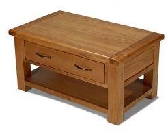 Windsor Oak Coffee Table with Drawers