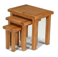 Windsor Oak Nest of 3 Tables