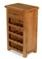 Windsor Oak Wine Rack with Drawer