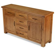 Windsor Oak Large 6 Drawer 2 Door Sideboard