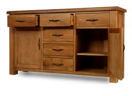 Thumbnail Windsor Oak Large 6 Drawer 2 Door Sideboard