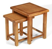 Windsor Oak Nest of 2 Tables