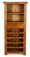Thumbnail Windsor Oak Tall Wine Rack with Drawer