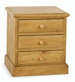 Welland Pine 3 Drawer Bedside