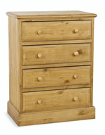 Welland Pine 4 Drawer Chest of Drawers