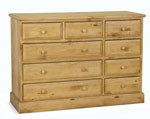 Welland Pine 9 Drawer Large Chest of Drawers