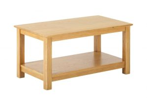 York Oak Coffee Table with Shelf