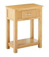 York Oak Small Console Table