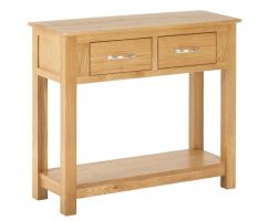 York Oak Console Table