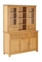 York Oak 3 Door Glazed Dresser