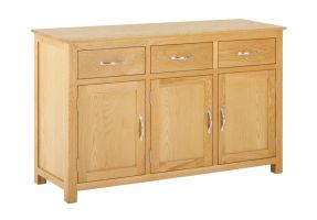 York Oak 3 Door 3 Drawer Sideboard