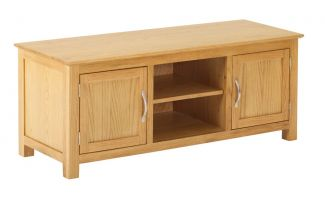 York Oak Large TV Cabinet