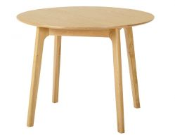 York Oak Round Dining Table