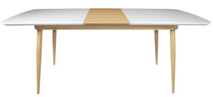Contempo White Gloss 1.25m Extending Dining Table