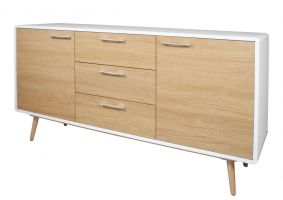 Contempo White Gloss Large Sideboard