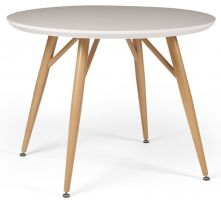 Contempo White Gloss 1m Round Dining Table