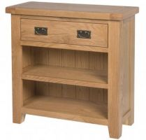 Hereford Oak Open Compact Sideboard with Drawer