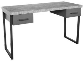 Warehouse Stone Effect Desk with Drawers