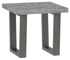 Warehouse Stone Effect Lamp Table