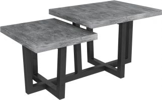 Warehouse Stone Effect Step Coffee Table