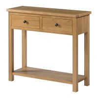 Burford Oak 2 Drawer Console Table