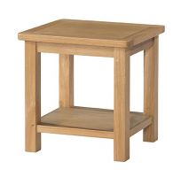 Burford Oak Lamp Table with Shelf