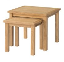 Burford Oak Nest of 2 Tables